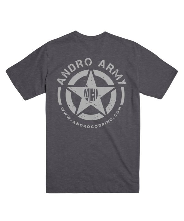 ANDRO ARMY T CHARCOAL