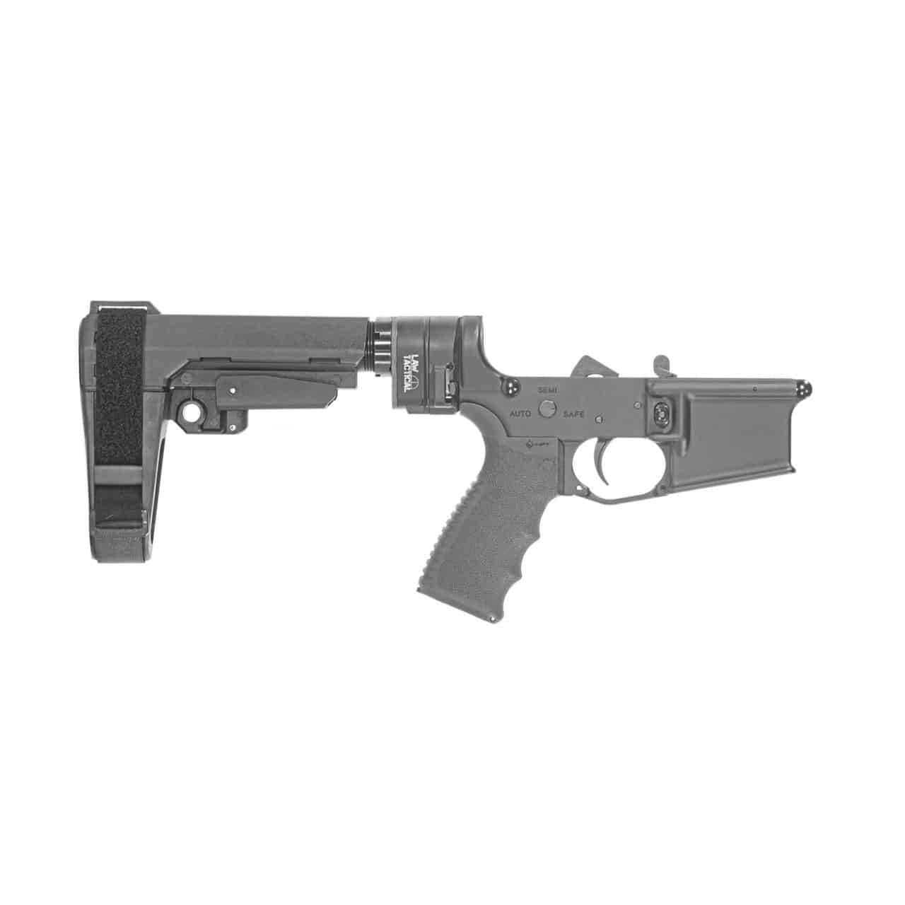 AR15  M4 PISTOL LOWER RECEIVER, ANDRO CORP, SB TACTICAL SBA3 PISTOL BRACE, LAW TACTICAL
