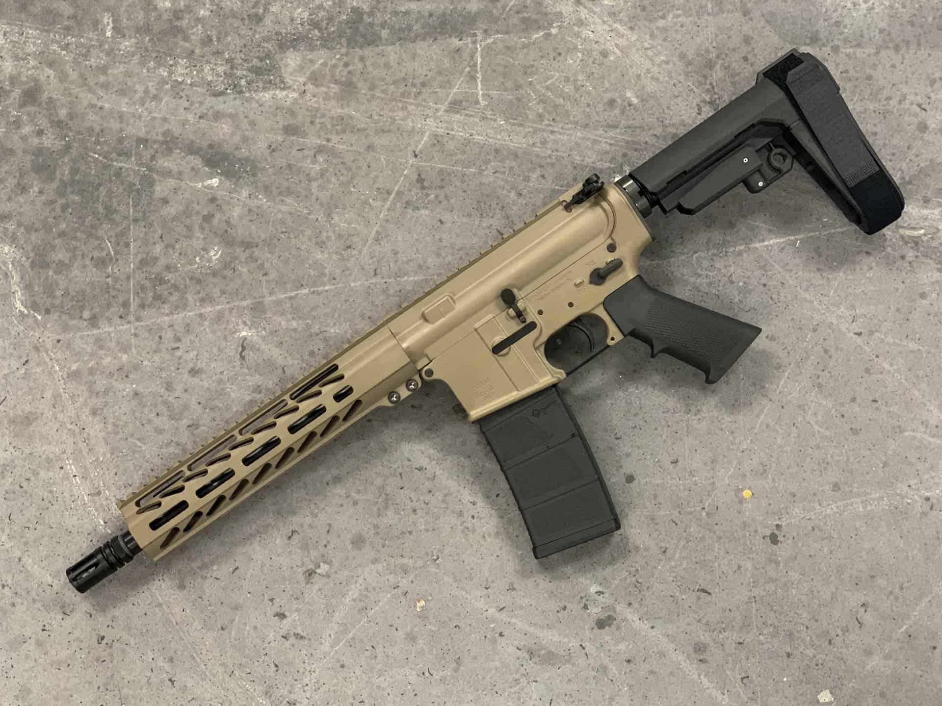 AR-15 PISTOL 556 BLEM 10.3 INCH SBA3 MLOK Andro Corp AR15 Pistol