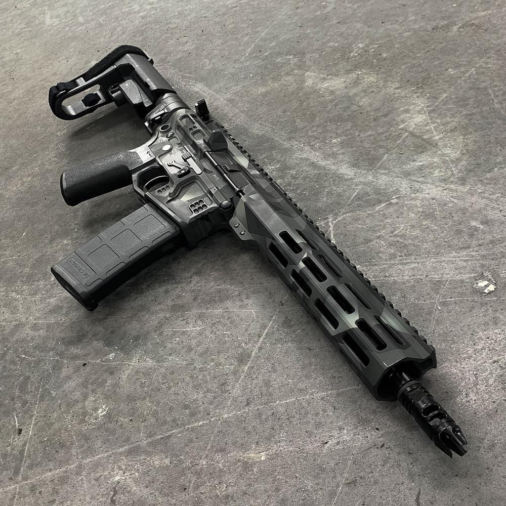 AR15 556 CERAKOTE ANDRO CORP GEOCAM CUSTOM AR-15 PISTOL