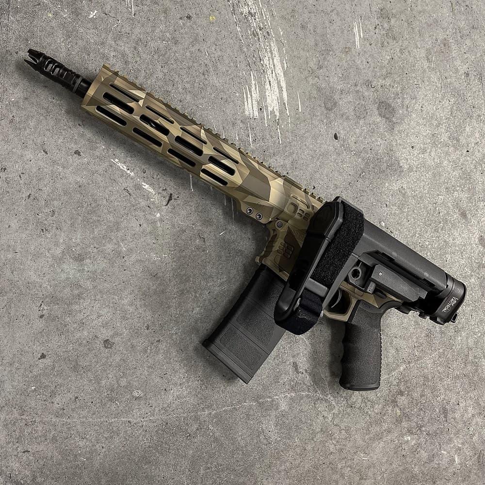 556 AR15 CERAKOTE 10.3 INCH SBA3 MLOK Andro Corp AR15 Pistol