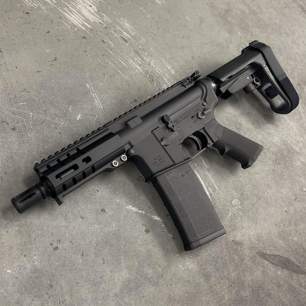 5 INCH 556 AR15 SBA3 MLOK Andro Corp AR Pistol